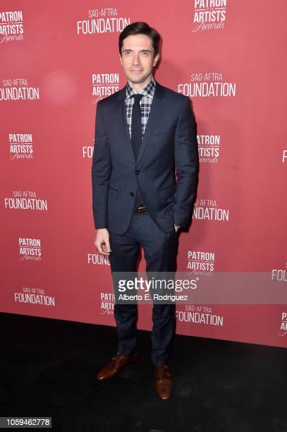 Topher Grace attends SAGAFTRA Foundation's 3rd Annual Patron of the Artists Awards at Wallis Annenberg Center for the Performing Arts on November 8...