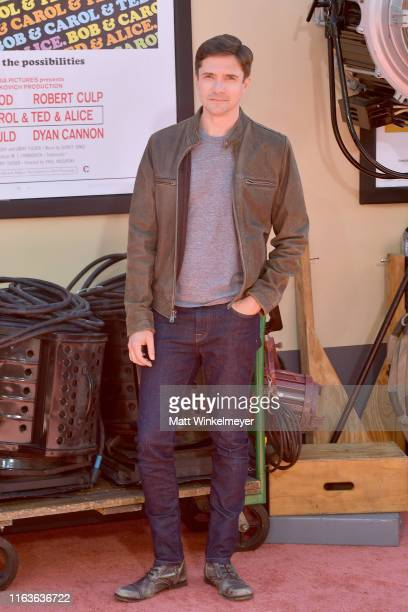 """Topher Grace attends Sony Pictures' """"Once Upon A Time...In Hollywood"""" Los Angeles Premiere on July 22, 2019 in Hollywood, California."""