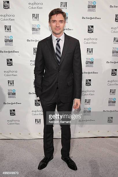 Topher Grace attends the 25th IFP Gotham Independent Film Awards cosponsored by FIJI Water at Cipriani Wall Street on November 30 2015 in New York...