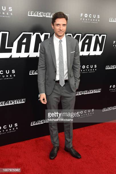 Topher Grace attends the 'BlacKkKlansman' New York Premiere at Brooklyn Academy of Music on July 30 2018 in New York City