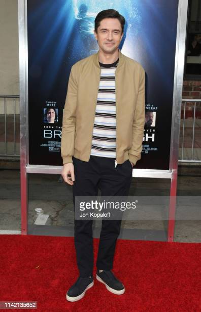Topher Grace attends the premiere of 20th Century Fox's Breakthrough at Westwood Regency Theater on April 11 2019 in Los Angeles California