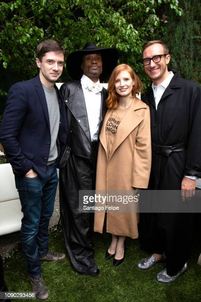 Topher Grace Billy Porter Jessica Chastain and Adam Smith at The House on Sunset on January 05 2019 in Beverly Hills California