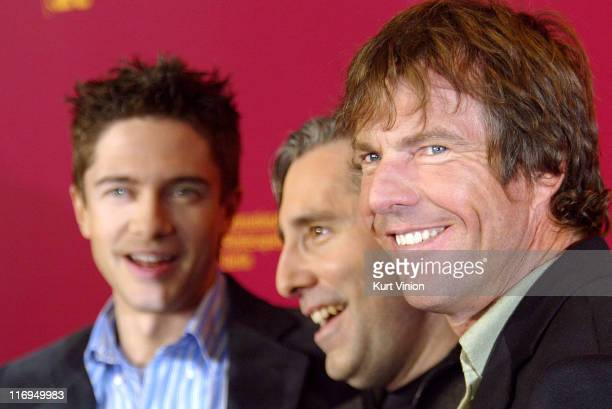 Topher Grace Director Paul Weitz and Dennis Quaid