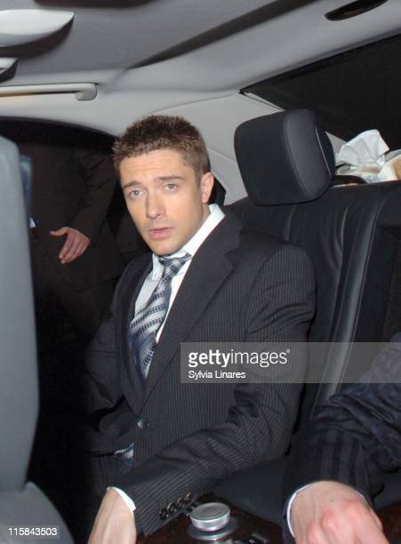 Topher Grace during SpiderMan 3 London Premiere After Party Departures at Freemason's Hall in London Great Britain