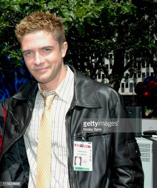 Topher Grace during SpiderMan 3 On Location in New York City June 10 2006 at Downtown Manhattan in New York City New York United States