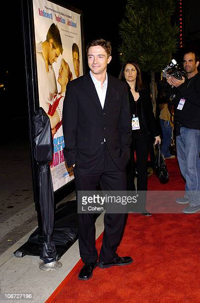Topher Grace during 'Win A Date With Tad Hamilton' Premiere Red Carpet at Pacific Crest Theatre in Westood California United States