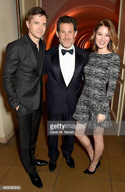 Topher Grace, Josh Berger and Ashley Hinshaw attend the BFI London Film Festival Awards at Banqueting House on October 17, 2015 in London, England.