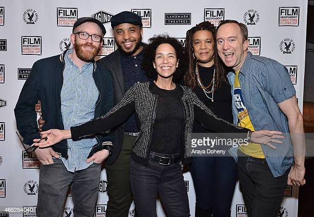 Topher Osborn, Justin Simien, Stephanie Allain, Kathryn Bostic and Phillip J. Bartell attend the Film Independent's Directors Up Close Presents...