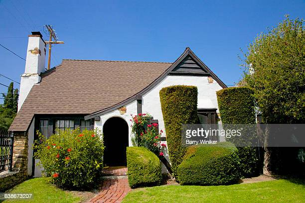Topiary near Snow White cottage, Los Angeles