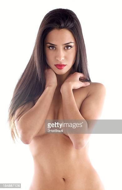 Topless Beauty Portrait of a Young Woman