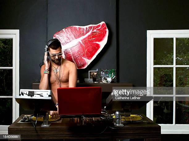 Topless Male DJ
