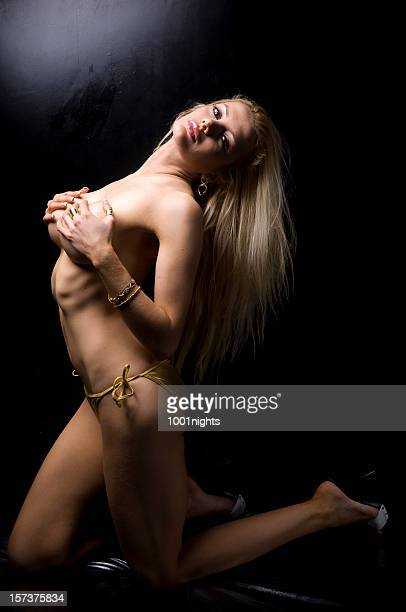 topless! - topless bikini models stock pictures, royalty-free photos & images