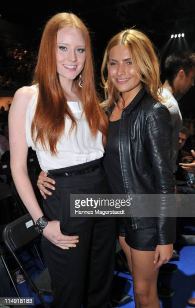 Topmodel Barbara Meier and actress Sophia Thomalla attend the 'Night Of The Champions' Box Event at the Olypia Eisstadion on May 28 2011 in Munich...