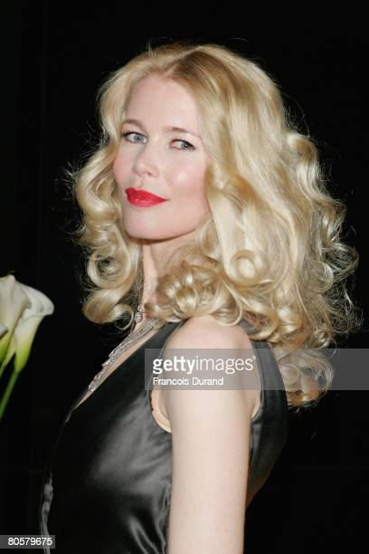 Topmodel Claudia Schiffer attends the 'Writing Time', Robert Wilson's watch launch gala hosted by Montblanc during the Salon International de la...