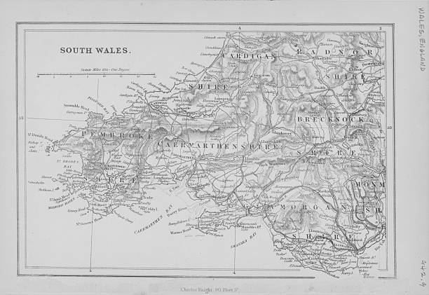 Map Of South Wales Pictures Getty Images