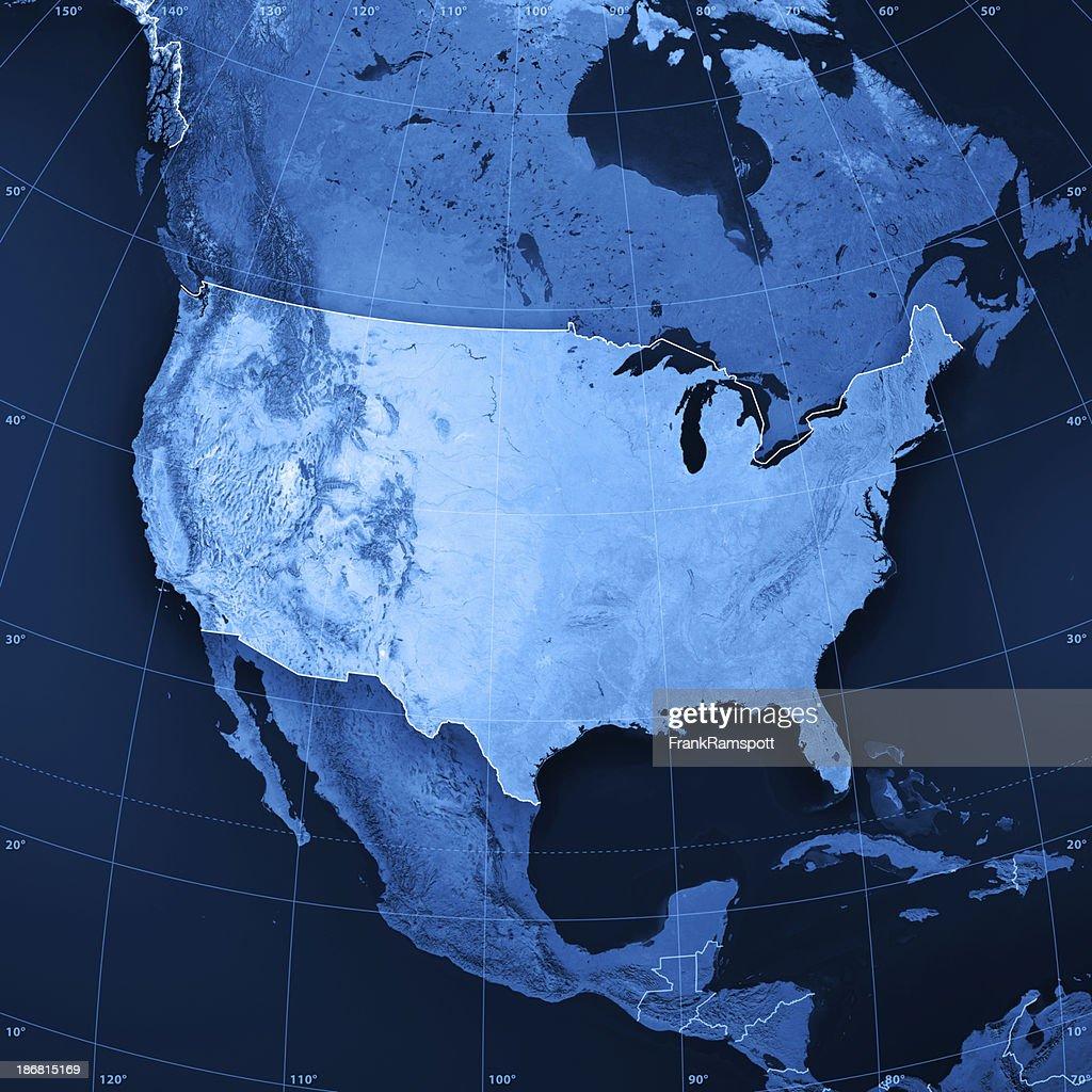 USA Topographic Karte : Stock-Foto