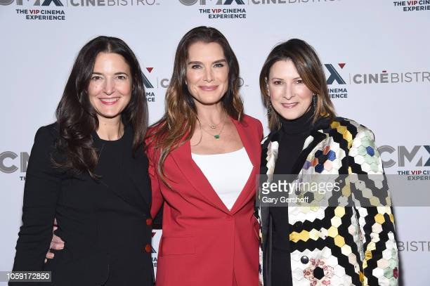BJ Topol Brooke Shields and Lizzie Tisch attend the opening of CMX CineBistro with special screenings of 'Blackkklansman City Lights and Pretty Baby'...
