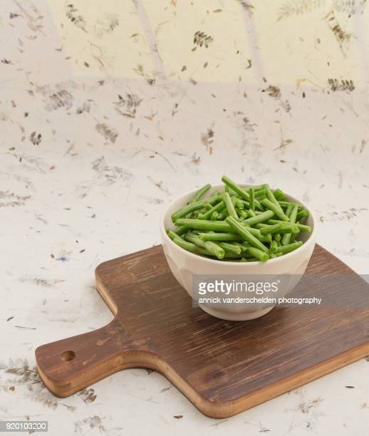Topped green beans.