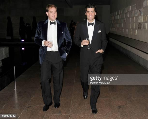 Topper Mortimer and Alejandro Santo Domingo attend Apollo Circle Benefit 2009 Sponsored by Carolina Herrera at The Metropolitan Museum of Art on...