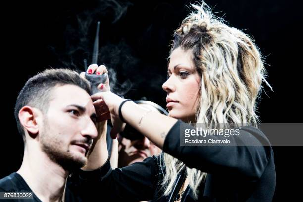 Toppik product presentation with a demonstration of application on hair and eyebrows 'The product is a real makeup for hair with a new naturalbased...