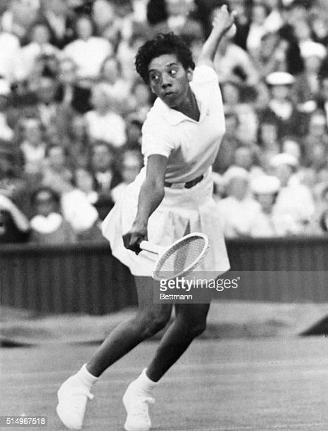 Topseeded Althea Gibson of New York easily won her third round women's singles match by defeating Mary Hellyer of Australia 64 62 Althea seeking to...