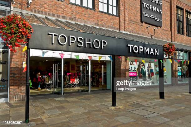 Topshop and Topman clothing and accessories shop in Coppergate Shopping Centre.