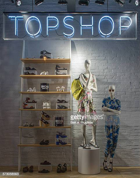 Topshop London window display 2014 as Part of the World Fashion Window Displays on May 22 2014 in London United Kingdom