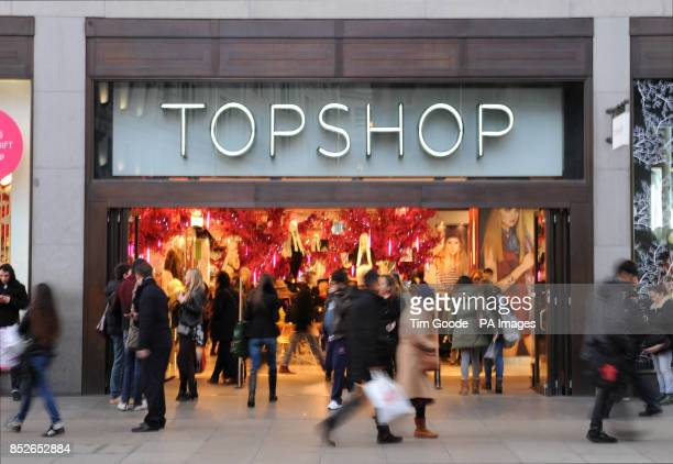 A Topshop retail store on Oxford Street London PRESS ASSOCIATION Photo Picture Date Thursday 14 November 2013 Photo credit should read Tim Goode/PA...