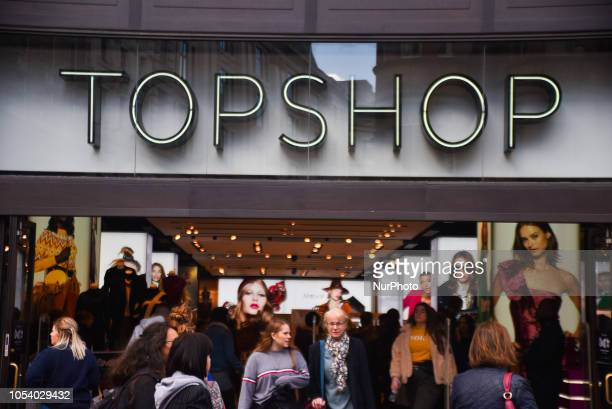 Topshop store is pictured in Central London on October 26, 2018. Retail billionaire Sir Philip Green has been named in Parliament as the leading...