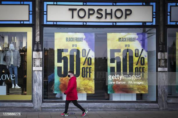 Topshop Topman store on Princes Street, Edinburgh, part of Sir Philip Green's Arcadia Group which has gone bust, putting 13,000 jobs at risk.