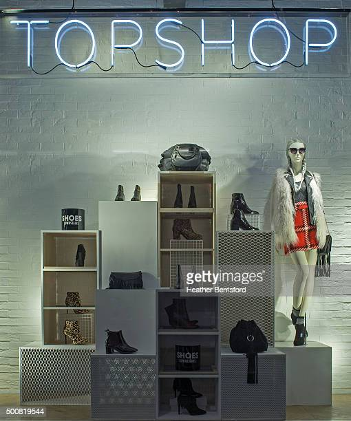 A Topshop window is seen as part of the World Fashion Window Displays on September 21 2015 in London England