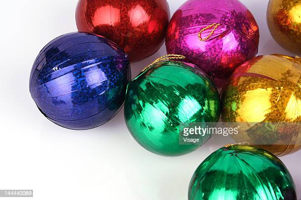 Top-shot of Christmas Baubles