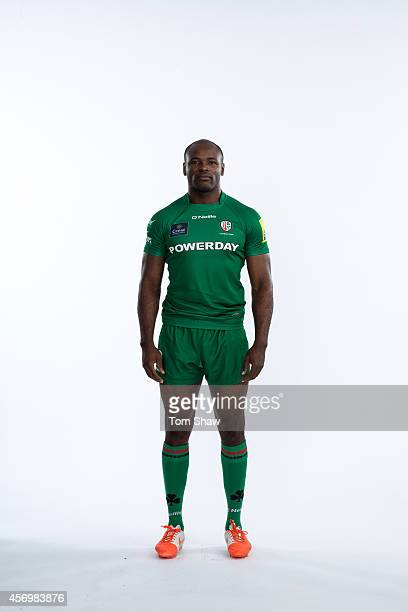 Topsy Ojo of London Irish poses for a picture during the BT PhotoShoot at Sunbury Training Ground on August 27 2014 in Sunbury England