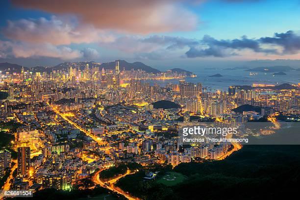 Topview cityscape