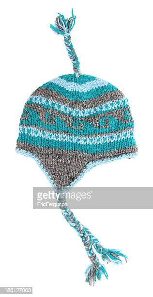 Toque with tassels on white