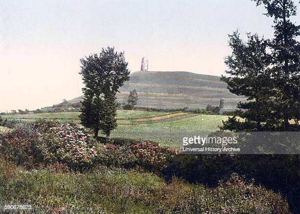 Tor at Glastonbury England 1890 Glastonbury Tor is a hill at Glastonbury in the English county of Somerset topped by the roofless St Michael's Tower...