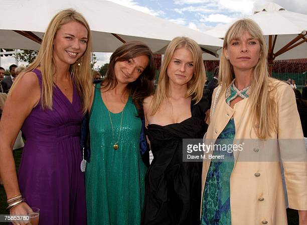 Tor Cook guest Alice Eve and Deborah Leng attend the annual Cartier International Polo Day at the Cartier Marquee in Great Windsor Park on July 29...