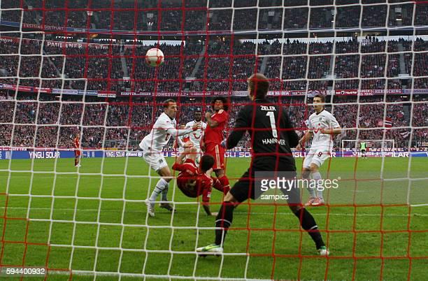 Tor von Javi Martinez FC Bayern München zum 10 1 Bundesliga Fussball FC Bayern München Hannover 96 Saison 2012 / 2013