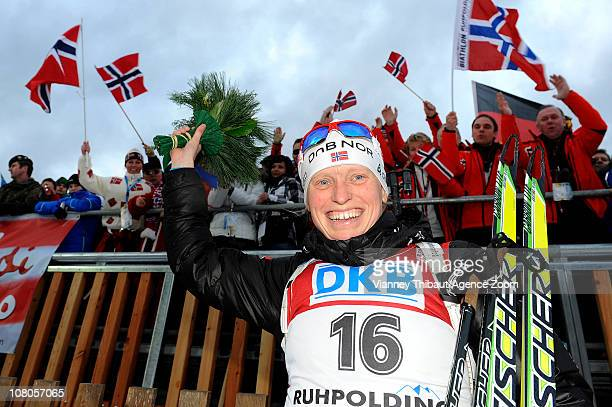 Tora Berger of Norway takes 1st place during the IBU World Cup Biathlon Women's 75 km Sprint on January 15 2011 in Ruhpolding Germany