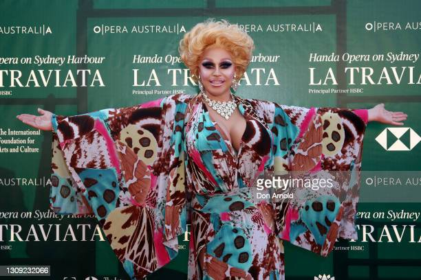Tora Hymen attends opening night of La Traviata on March 26, 2021 in Sydney, Australia.