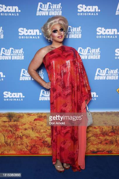 Tora Hymen attends the premiere of RuPaul's Drag Race Down Under at Sydney Opera House on April 30, 2021 in Sydney, Australia.