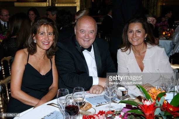 Tora Madhavi President of French Tennis Federation Bernard Giudicelli and Ivana Schaeffer attend the Opening Season Gala Ballet of Opera National de...