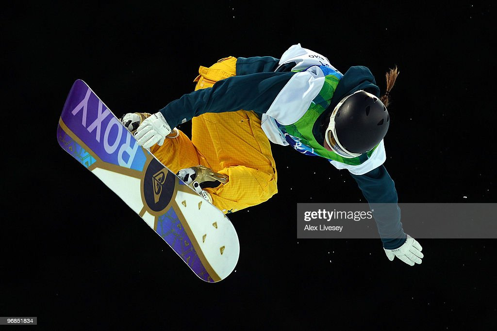 Torah Bright of Australia competes during her second run of the women's snowboard halfpipe final on day seven of the Vancouver 2010 Winter Olympics at Cypress Snowboard & Ski-Cross Stadium on February 18, 2010 in Vancouver, Canada.