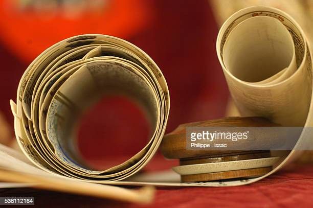 torah scrolls - torah stock pictures, royalty-free photos & images