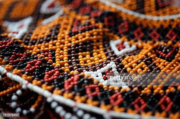 torajan bead work - rantepao stock photos and pictures