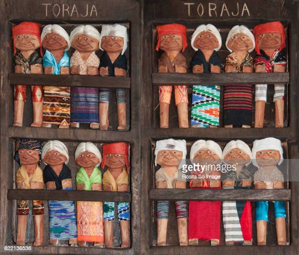 Torajan Traditional Wooden Dolls, South Sulawesi, Indonesia