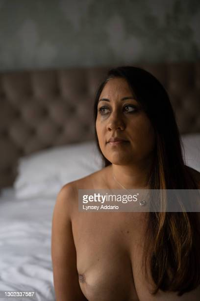 Toral Shah photographed in her bedroom on September 22, 2020 in London,England. Toral was only 29 when first diagnosed with breast cancer, studying...