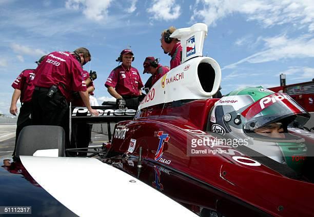 Toranosuke Takagi or Tora Takagi of Japan aboard the Mo Nunn Racing Pioneer Toyota Dallara during practice for the Indy Racing League IndyCar Series...