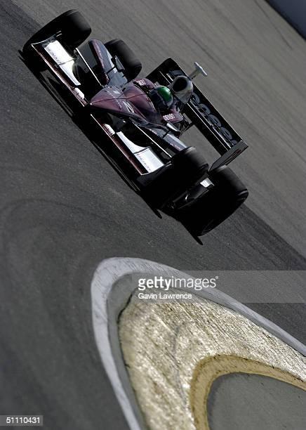 Toranosuke Takagi or Tora Takagi of Japan drives the Mo Nunn Racing Pioneer Toyota Dallara during practice for the Indy Racing League IndyCar Series...
