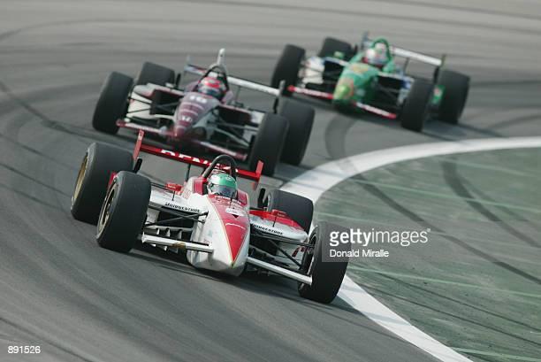 Toranosuke Takagi or Tora Takagi of Japan driving the Walker Racing Toyota Reynard during the Grand Prix of Chicago round 7 of the CART FedEx...